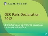 OER Paris Declaration