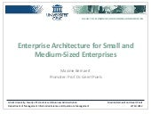 CHOOSE: Enterprise Architecture for Small and Medium Sized Enterprises