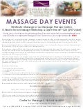 2013 Massage Day: 50-Minute Massage, 4-Hour Massage Workshop & Information about our Massage School-Only $25