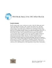 FDA Media Study of the 2012 Alberta...