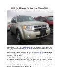 2012 Ford Escape For Sale Near Macon MO