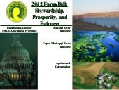 2012 Farm Bill forums - MO 5-1-11