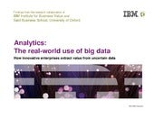 Analytics: The Real-world Use of Big Data
