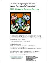 2012 LinkedIn Success Survey Report...