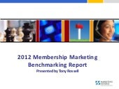 2012 Membership Marketing Benchmark...