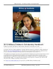 2012 Military Children's Scholarshi...