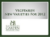 2012 NGB New Varieties Vegetables