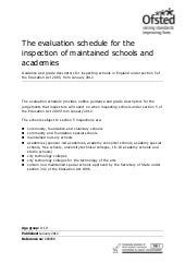 2012 OFSTED evaluation schedule