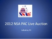 2012 NSA PAC Live Auction
