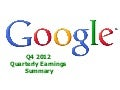 Google Q4 2012 Quarterly Earnings Summary