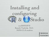 Install and Configure R and RStudio