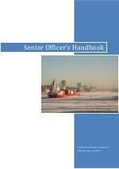 2012 senior officer's handbook