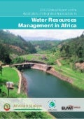 2012 status report on the application of integrated approaches to water resources management in africa