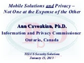 Mobile Solutions and Privacy – Not...