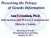 Preserving the Privacy of Genetic I...