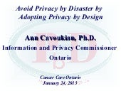Avoid Privacy by Disaster by Adopti...