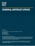 Criminal Antitrust Update ~ January 2013