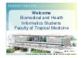 Faculty of Tropical Medicine, Mahidol University's Site Visit at Ramathibodi