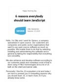 Six reasons to learn JavaScript