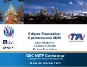 Eclipse Foundation: Openness and M2M