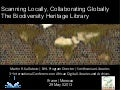 Scanning Locally, Collaborating Globally: The Biodiversity Heritage Library
