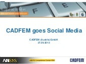 CADFEM Blog, Youtube, SlideShare, X...