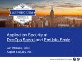 Application Security at DevOps Speed and Portfolio Scale
