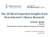 Greatest Hits from Pew Internet's Library Research