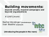 Building Movements: Beyond Emails, ...