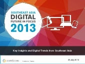 Southeast Asia Digital In Focus 2013