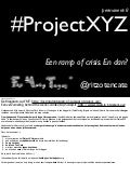 Project XYZ op 'Een ramp of crisis. En dan?