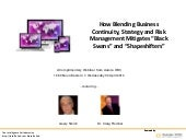 How Blending Business Continuity, S...