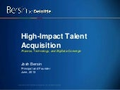 Best Practices in Recruiting Today - High-Impact Talent Acquisition