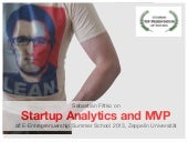 Lean Startup Analytics and MVP – Lecture and Workshop at Zeppelin University