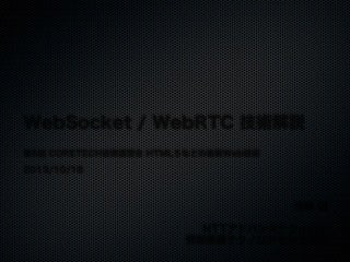 HTML5と WebSocket / WebRTC / Web Audio API / WebGL 技術解説