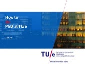 How to do PhD at TU/e