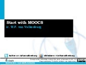 Starting with MOOCs for NHOC