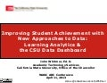 Improving Student Achievement with New Approaches to Data
