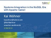 Systems Integration in the NoSQL Er...