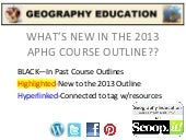 2013 APHG course outline
