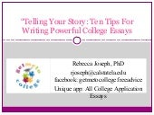 """Telling Your Story: Ten Tips For W..."