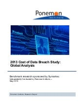 2013 cost of data breach study - Gl...