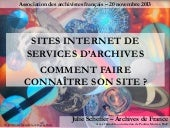 Sites internet de services d'archiv...