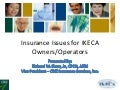 Insurance Issues for IKECA Owners/Operators