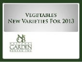 2013 NGB New Varieties - vegetables