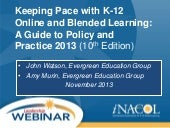 iNACOL Webinar: Keeping Pace with B...