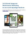 2013 retail integrates multichannel marketing