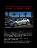 2013 Toyota Avalon near Orlando a top highway cruiser!