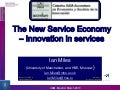 The New Service Economy: Innovation in Services