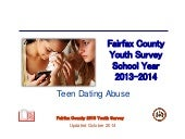 Fairfax County Youth Survey School Year 2013-2014: Teen Dating Abuse